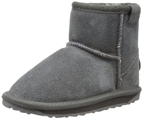 EMU Australia Wallaby Mini, Boots mixte enfant - Gris /Charcoal-