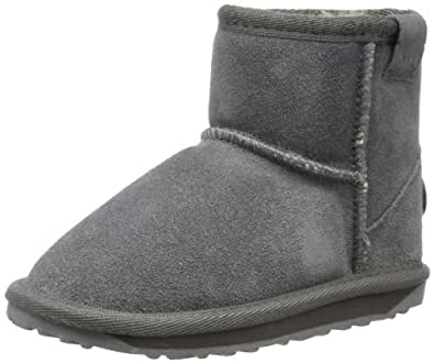 Emu Wallaby Mini K10103 Unisex -  Kinder Stiefel, Grau (Charcoal), 24 EU (7 UK)