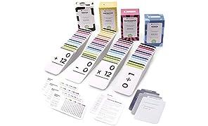 Think Tank Scholar 681 Math Addition, soustractions, multiplications et Division Flash Cards | Bundle kit avec boîte Pleine Sets| idéal pour Les Enfants à l'école 1er, 2e, 3e, 4e, 5e et 6e année