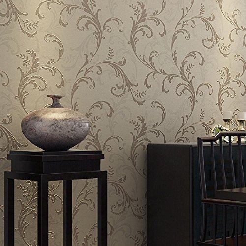 UCCUN Non-Woven Wallpaper Stoff Wohnzimmer beauftragt, moderne Wand Roll Schlafzimmer Weinblätter...
