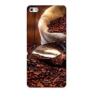Coffee Beans Back Case Cover for Micromax Canvas Silver 5