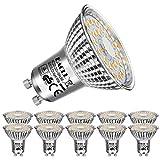 EACLL Gu10 Led Warmweiss 6W Leuchtmittel 2700K 550 Lumen Birnen Entsprechung 75W Par16 Halogen Lampen, 10 Pack