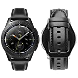 iBazal 20mm Cinturino Pelle Rilascio Rapido Cuoio Bracciale Compatibile Galaxy Watch 42mm/Active/Gear S2 Classic/Sport/Huawei Watch 2/Ticwatch 2/Garmin/Fossil/Pebble/Moto/Nokia Uomo - Nero