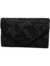 Sumaju Clutch, Spitze, Umschlagtasche für Damen, Blumenmuster, elegante Handtasche für Partys und Hochzeiten