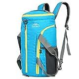 RFJJ mochilas de Nylon de montañismo, Bolso de Hombro Transpirable Impermeable...