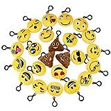 TuDu Lot DE 24Emoji Porte-clés en Peluche Mini Lovely émoticône Emoji Porte-clés Jouet Cadeau pour Enfants