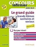 Concours Infirmier 2018-2019 Le grand guide Grands thèmes sanitaires et sociaux: Ecrit et Oral : Le tout-en-un avec livret d'entraînement
