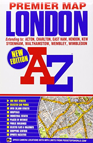 London Premier Map (A-Z Premier Street Maps) (Map London A-z)