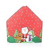 Altsommer Weihnachten Vliesstoff Stuhlabdeckung, Weihnachten Vlies Stuhl Set Cartoon Alter Mann Schneemann Party Hocker Set Dekoration