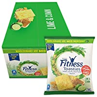 Fitness Toasties Lime & Cumin 36g Bag (Pack Of 12)