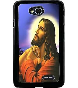 ColourCraft GOD Jesus Design Back Case Cover for LG L70