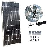 dchouse energía Solar ventilador de ático Gable–100W Panel Solar monocristalino memoria–65vatios ventilador ventilador