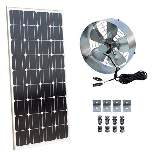 DCHOUSE Solar Power Attic Gable Fan - 100 Watts Monocrystalline Solar Panel Module - 65 Watts Ventilator Fan (Gable-fan Attic)