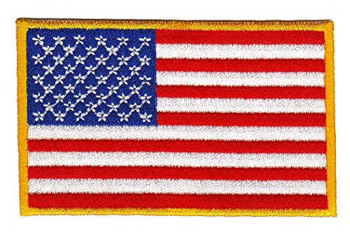 Flagge USA United States Aufnäher Bügelbild Patch Applikation -