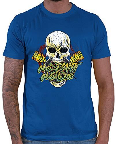 HARIZ  Herren T-Shirt No Dart No Life Dart Darten Männer WM Plus Geschenkkarten Royal Blau XL