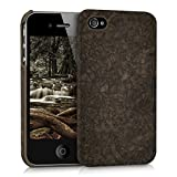 kwmobile Cover in Sughero per Apple iPhone 4 / 4S - Backcover Protettiva - Case Protezione Rigida Smartphone Apple iPhone 4 / 4S