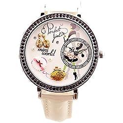 ufengke® vintage elegante frau zu fuß polymerclay pendent ohrringe armbanduhren band schwarz strass kleid zu sehen