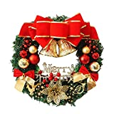 30cm couronne de porte noel fruit poinsettia et pommes de pin noel pendantif decoration accueillant