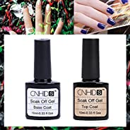 2 pcs Top coat + Base coat Uv Gel Nail Polish Nail Art Nail Gel Set Nail Design 10ML (Clear)