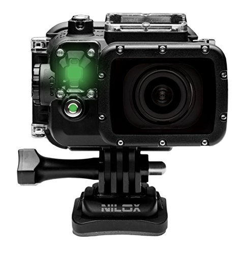Nilox F-60 Evo Action Cam, Video Full HD 1080p a 60 Fps, Foto 16 Megapixel, Display TFT da 2 Pollici, Wi-Fi, Nero
