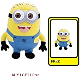 KTC Plus (Buy 1 Get 1 Free Soft Toy Combo) -Kids Yellow Minions Buddy Stuffed Soft Plush Toy18 Centimeter With Free 1 Extra Minion Soft Toy