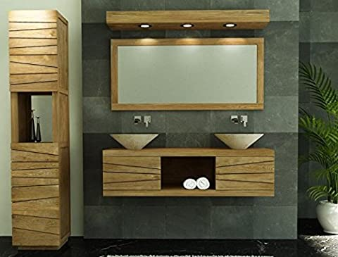 Walk - CA-440-140-NAT - Meuble de salle de bain brehat l140 en teck