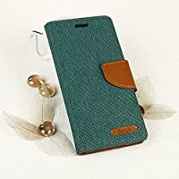 EGO Smartphone case book-style case with a stand function for Samsung Galaxy S7 edge G935 Green Flip case magnet case with pockets wallet protection case canvas