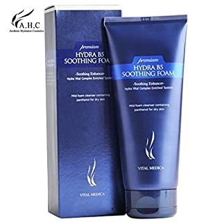 AHC PREMIUM HYDRA B5 SOOTHING FOAM CLEANSER 180ML (6 OZ), Panthenol Fills Your Skin with Moisture and Gives a Pleasantly Moistened Feeling without Tightening or Tugging by AHC Cleansing