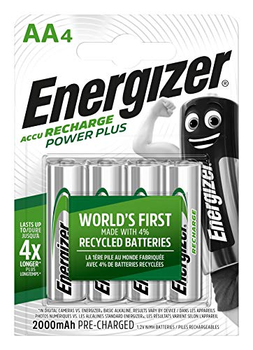 Piles AA rechargeables Energizer Recharge Power Plus, pack de 4