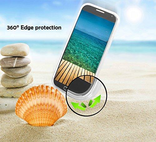 Apple iPhone 4 / 4S Silikon-Hülle in ROT von Cadorabo - TPU Schutz-hülle Edelstahl-Optik gebürstet BRUSHED Design – Handy-hülle Bumper Case Cover in ROT SILBER