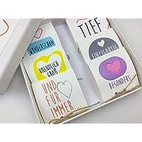 Valentinstag Geschenk 'Meine Liebe zu Dir' gefüllt mit Marzipan Herzchen
