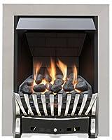 Eastleigh Slimline Radiant Gas Fire - Chrome/Black-P