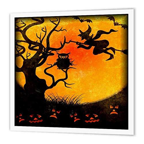 3dRose ht_24144_1 Halloween-Hintergrund aus Eisen auf Transferpapier für weißes Material, 20,3 x 20,3 cm