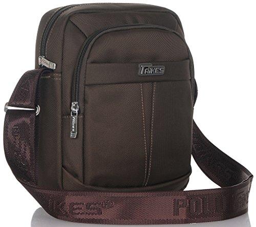 Binlion TAIKES Men's Shoulder Travel Messager Bag Crossbody Ipad Bag Daypack Coffee-2