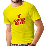 lepni.me N4058 T-shirt pour hommes I need a Good BEER (Small Jaune Rouge)