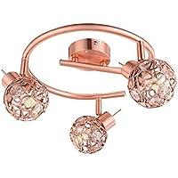 Design LED soffitto sfera luce rame filo treccia sala lampada anello forma Globo 56685-3