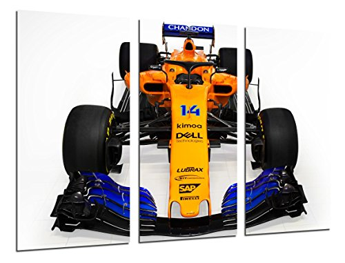 Cuadro Moderno Fotografico Coche Formula 1, McLaren MCL33, McLaren F1 2018, Fernando Alonso, Stoffel Vandoorne, 97 x 62 cm, Ref. 27108
