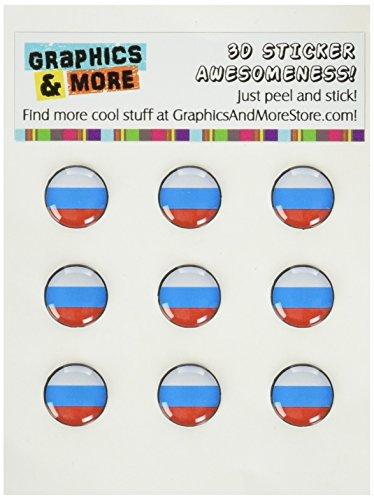 Preisvergleich Produktbild Graphics and More Aufkleber für Home-Button,  Motiv Russische Flagge,  für Apple iPhone 4 / 4S / 5 / 5C / 5S,  iPad,  iPod Touch,  Keine Einzelhandelsverpackung,  transparent