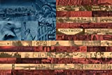 REINDERS Flagge mit USA Highlights - Poster 91,5 x 61 cm