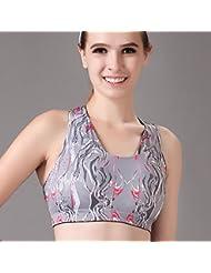 Starvy (TM) Mujeres Mujer de tiras de empuje Running Up m¨¢s el tama?o de Deportes Fitness Gym en seco Top sujetador de la chica Deporte absorber el sudor de la ropa interior del chaleco de la yoga r¨¢pida