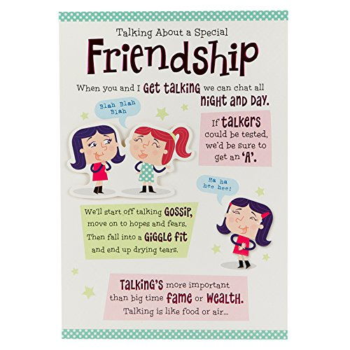 Funny birthday cards for her amazon hallmark birthday card for friend chat all night and day medium bookmarktalkfo Gallery