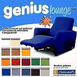 Funda para sillones reclinables relax Genius Lounge. Cubre sofá Biancaluna de 1plaza.