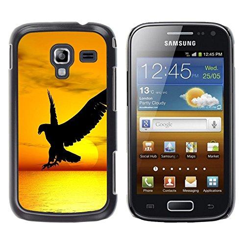 GooooStore/Dura Custodia Rigida della copertura della cassa - Hawk Eagle Bird Wild Flight Sunset Yellow - Samsung Galaxy Ace 2 I8160 Ace II X S7560M