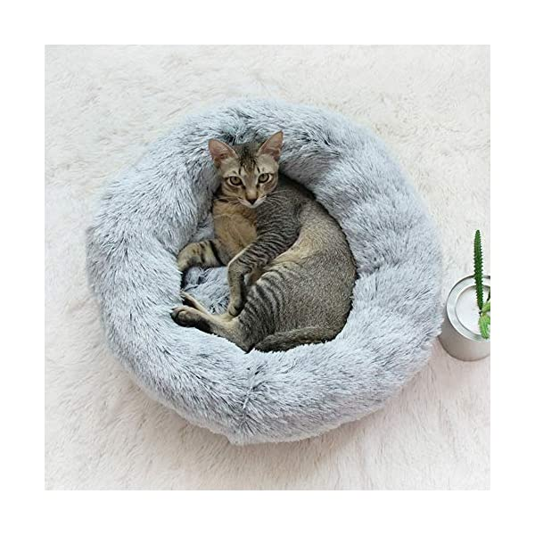 Ailotrd Fluffy Extra Donut Calming Pet Bed Sofa for Dogs Cats,Snuggly Improving Sleep Small & Large Dog Beds