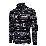 BHYDRY Long Sleeve Christmas T Shirts Men Casual Autumn Blouse Xmas Shirt Top