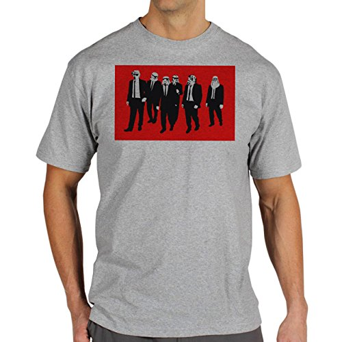 Reservoir Dogs Movie Quentin Tarantino Star Wars Red Screen Walking TogetherbVintage Art Graphics Design Canvas Herren T-Shirt Grau