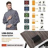 Vinmori Elektrische Beheizte Weste, Waschbare Größe Einstellbar USB-Lade Erhitzt Polaren Fleece Kleidung Winter Warme Weste (Schwarz)... - 2