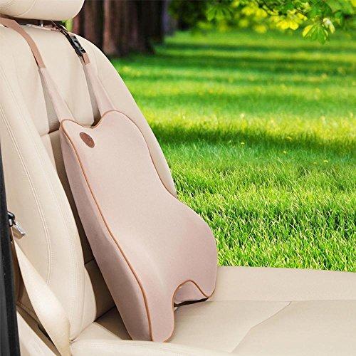 Auto interni memoria schiuma riempito cusion vita posteriore risolvibile cusion proteggendo vertebra cervicale , deep beige