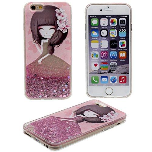 iPhone 6 Plus Coque Protection Case, Eau Liquide Style Original Conception Belle Motif (Couleur peut changer) Beau Rigide Transparent Housse de protection pour Apple iPhone 6S Plus / 6 Plus 5.5 inch rose