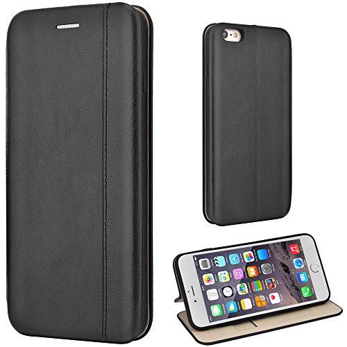 Leaum iPhone 6 Plus Hülle, iPhone 6S Plus Handyhülle Leder Tasche Flip Case für Apple i